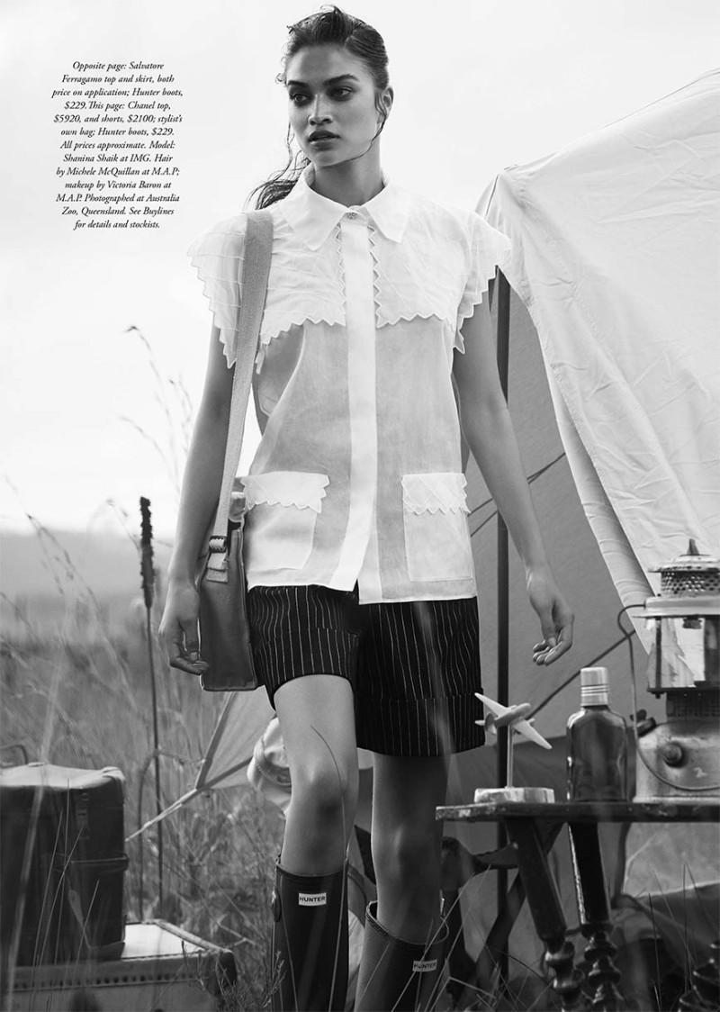 Shanina Shaik by Simon Upton for Harper's Bazaar Australia March 2015
