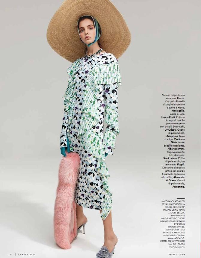 Anna Vivchar by Andoni & Arantxa for Vanity Fair February 2018
